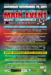 MAIN EVENT MUSIC CONFERENCE 2011-Nov 19th!!!