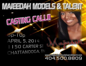 Majeedah Models And Talent Consulting first casting April 5th!
